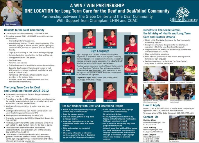 Long Term Care – Ottawa Deaf Health Care Team
